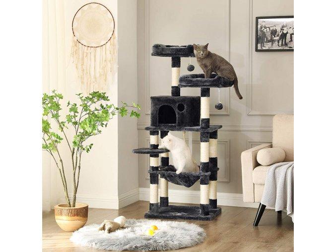 Strom pro kočky tmavě šedý 6 pater
