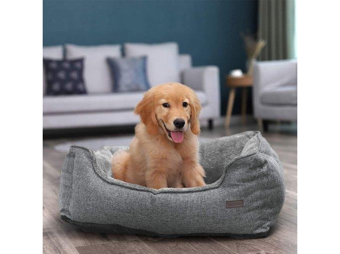 pelech pro psa malý šedý 70x55 cm pratelný