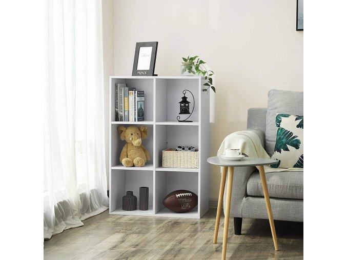 knihovna bílá 65x97 cm