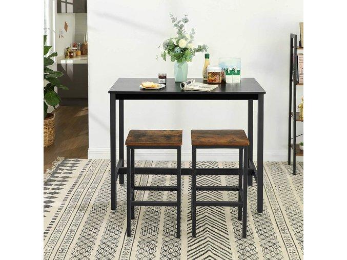 barový stůl industriální design 120c60 cm