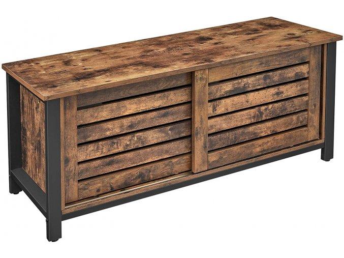 Televizní stolek industriální hnědý