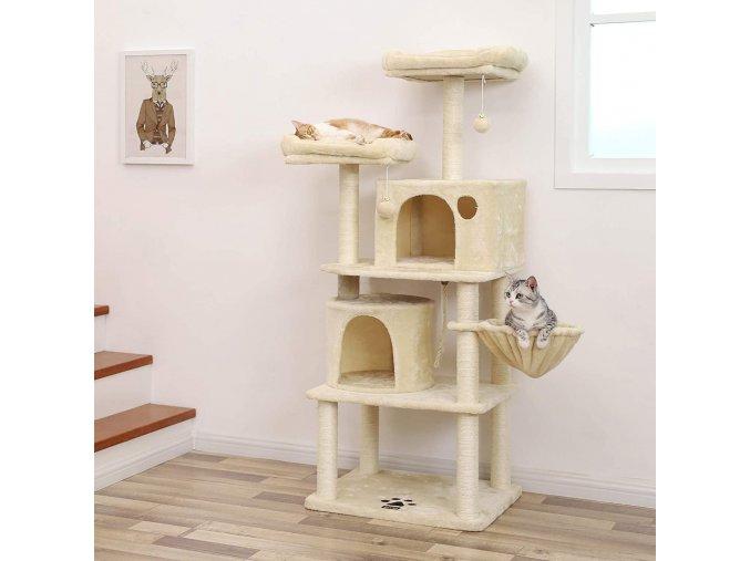 kočičí strom s pelíšky a domky