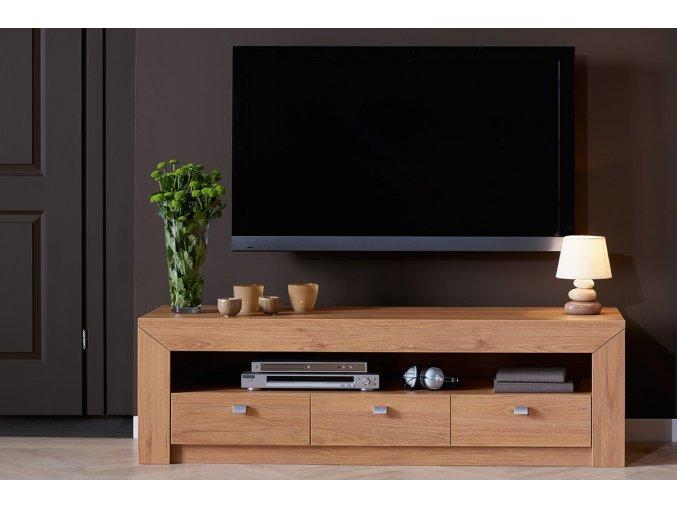 moderní televizní stolek dub