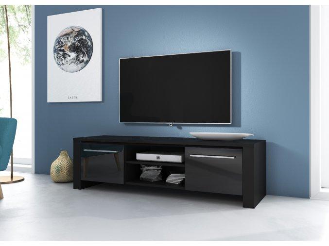 Televizní stolek Manhattan černý