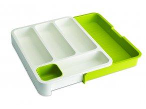 Přihrádky na příbory JOSEPH JOSEPH DrawerStore Cutlery Tray  bílé/zelené