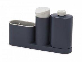 JOSEPH JOSEPH SinkBase™ Plus stojánek na mycí prostředky s dávkovačem mýdla, šedý