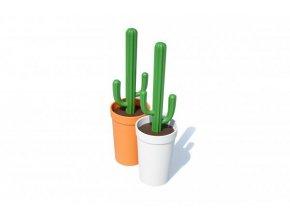 WC kartáč QUALY Cacbrush, oranžovo-zelený