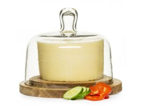 Prkénko na sýr s poklopem SAGAFORM Nature Cheese Dome