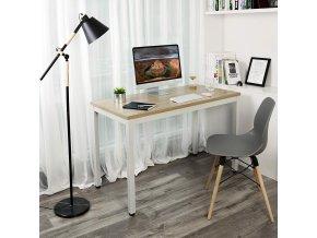 Psací stůl - bílý/dřevěný dekor 120x60cm