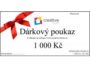 Poukaz CREATIVE HOME 1000