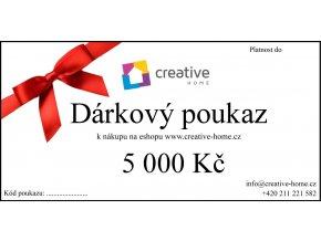 Poukaz CREATIVE HOME 5000