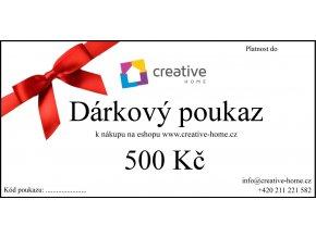 Poukaz CREATIVE HOME 500