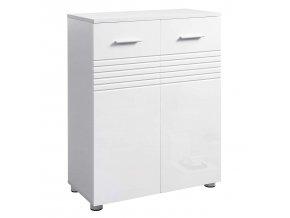 Koupelnová skříňka víceúčelová s policemi bílá1