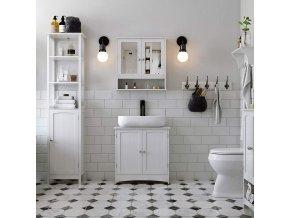 Koupelnová skříňka vysoká bílá2