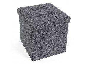 Box na hračky čalouněný skládací 38 cm šedý
