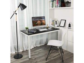 PC stůl černý bílý