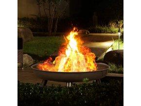 Zahradní přenosné ohniště kovové kruhové