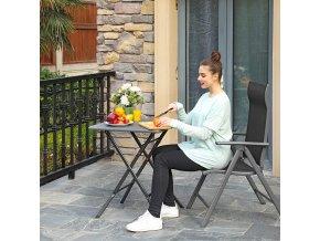 Kovová zahradní židle černá skládací
