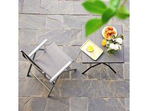 Skládací zahradní židle šedá