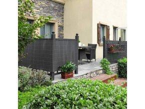 Balkonová stínící rohož šedá 90x300 cm
