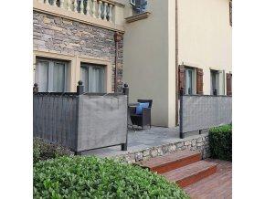 Stínící balkonová plachta šedá 75cm x 6m