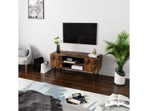 TV stolek retro hnědý