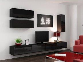 Obývací stěna VIGO 13, černá