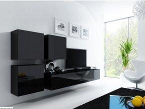 Obývací stěna VIGO 23, černá SKLADEM 1ks