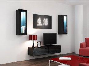 Obývací stěna VIGO 8, černá