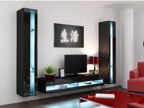 Obývací stěna VIGO NEW 3, černá