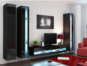 Obývací stěna VIGO NEW 6, černá