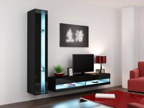 Obývací stěna VIGO NEW 8, černá