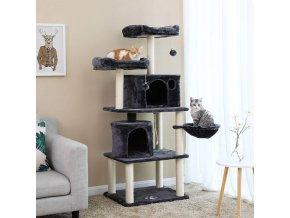 Strom pro kočky 5 pater XXL tmavě šedý