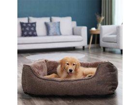 Pelech pro psa velký 90x75 cm hnědý pratelný