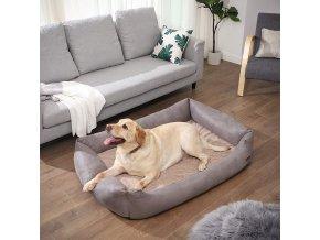Polštář pro psa 130x85 cm šedý ortopedický