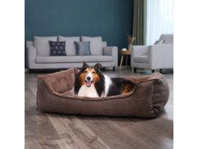 psí pelíšek velký hnědá 110x75 cm pratelný potah