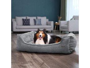 pelech pro psa velký šedý pratelný potah 110x75cm