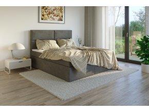 Čalouněná postel boxsprings potah Sawana 05