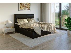 Čalouněná postel boxsprings potah Madryt 925