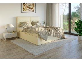 Čalouněná postel boxsprings potah Madryt 907