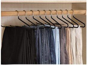 raminka na kalhoty černé kovové