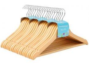dřevěná ramínka 20 ks přírodní