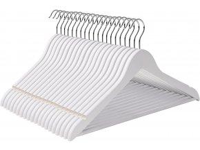 dřevěné ramínko bílé 20 ks