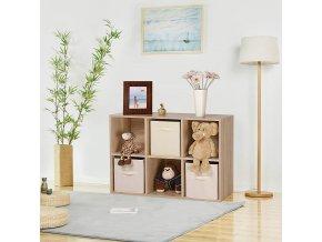 Knihovna 6 oddílů světlé dřevo 65 x 97 cm