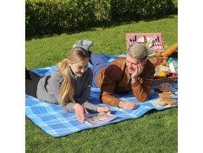 pikniková deka 200 x 200 cm modrá