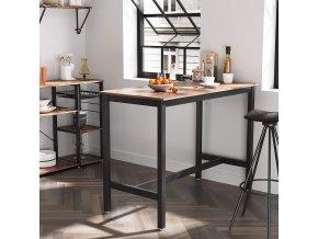 industriální barový stůl 60x120 cm hnědý