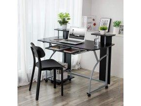 kovový pracovní opc stůl černý kovový mobilní
