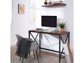 Psací stůl industriální, hnědý 115x76 CM