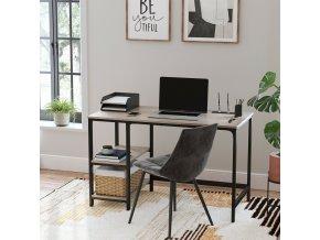 psací stůl šedobéžový industriální design
