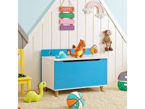 Box na hračky do dětského pokoje modrý